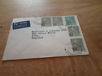 1963 Finland Suomi To Uk Cover Stamp £2.99 Post Free Worldwide  Bx4