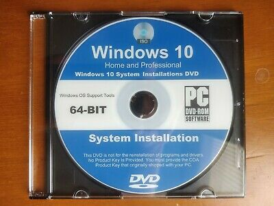 Dvd Windows 10 Pro Professional 64 Bit Iso Full Originale Italiano