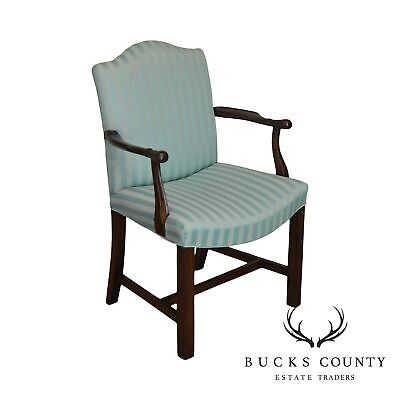 George III Style Antique Mahogany Frame Armchair