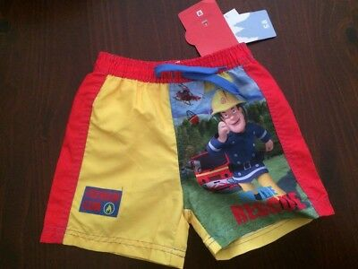 NWT Fireman Sam swim shorts Size 6-12mths