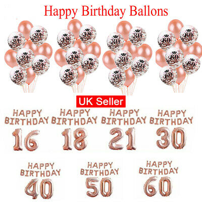 Wedding Birthday Balloons Latex Foil Ballons Kids Boy Girl Baby Party UK Stock