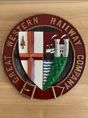 VINTAGE GREAT WESTERN RAILWAY Coat Of Arms Plaque *RARE*GWR*