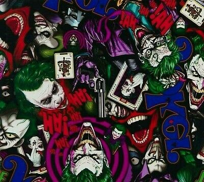 Joker hydrographic film hydro dipped 100cm width, various lengths Folded