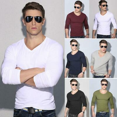 Men Fashion Casual O-Neck Long Sleeve Slim Fit Bottoming T-shirt WT88 04