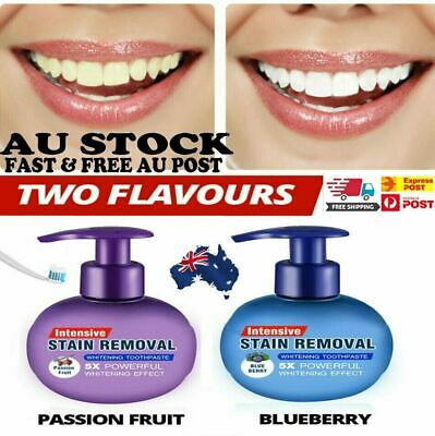 Natural Intensive Stain Remover Whitening Toothpaste Fight Bleeding Fresh FREE