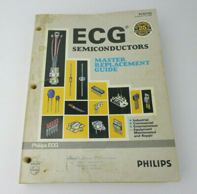 ECG Semiconductor 1991 Master Replacement Guide Vintage Cross-Reference Specs