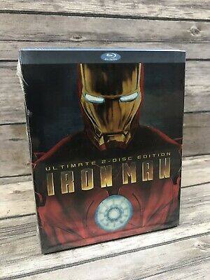 Iron Man (Blu Ray, Ultimate 2-Disc Edition) Marvel MCU w/ Slipcover NEW Sealed