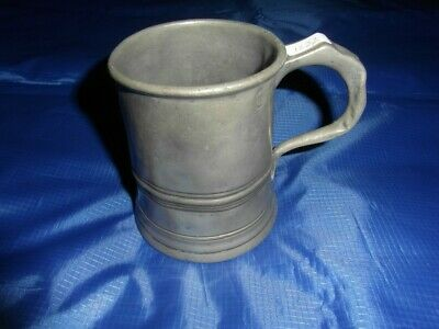 Antique 1 Pint Pewter Tankard
