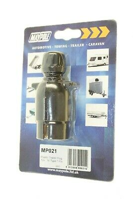 Maypole Mp021 Plastic Trailer Plug 12V N Type 7 Pin New Holiday Makers New