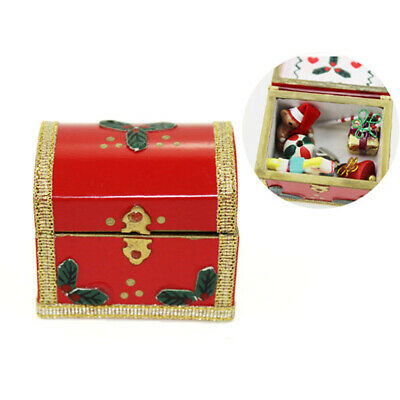 1:12 Miniature christmas box gift dollhouse diy doll house decor accessories>s