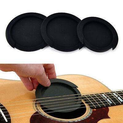 Silicone Guitar Feedback Buster Soundhole Cover Sound Buffer Hole Protector~PA