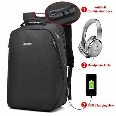 14 INCH LAPTOP Tech Backpack Book Bag with Isolated Notebook Sleeve