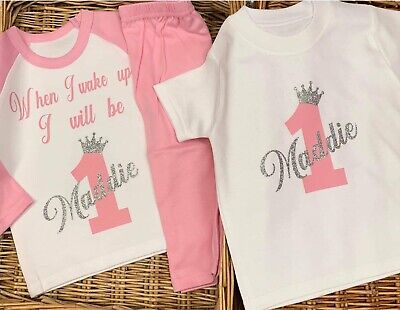 Personalised Girls Princess Pyjama Set W/T-Shirt Fabulous Royal Royalty Spoilt