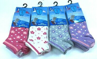 Girls Kids Trainer Socks Run Walk Gym Ankle Sports Socks All Sizes Lot