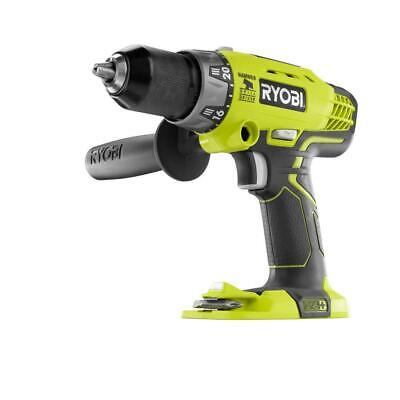 NEW RYOBI P214 18-Volt ONE+ Cordless 1/2 in. Hammer Drill/Driver (Tool Only) wit