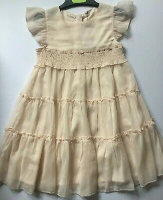 Girls Marks & Spencer Pale Pink Tiered Ruched Dress  Age 2-3, 3-4,  6-7
