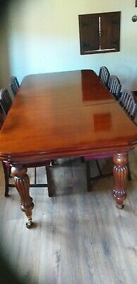 Victorian Mahogany Reproduction 8' Dining Table 2 leaf wind-out