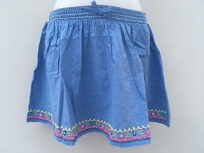 Chambray Embroidered Skirt Ex Monsoon Accessorize Angels Age 9-10Years Last One!
