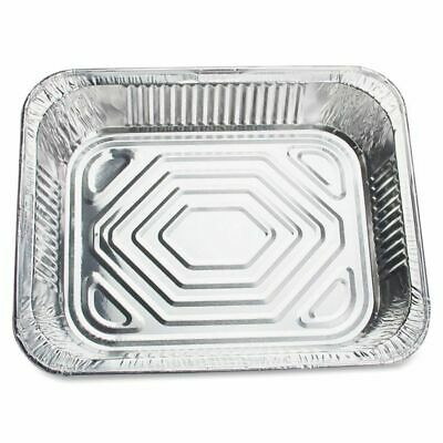 "Genuine Joe Half-size Disposable Aluminum Pan - 4 quart 0.50"" Diameter Pan - Alu"