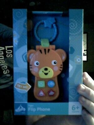 Carousel Kid's Tiger Flip Phone Learning Aid Ideal Baby Gift Free Uk Post