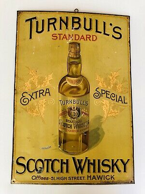 Original Classic Turnbull's Standard Extra Special Scotch Whisky Tin Sign