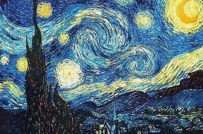 93d4353e3d2bd STARRY NIGHT BY Van Gogh Gallery Wrapped Canvas Wall Art (20x16 ...