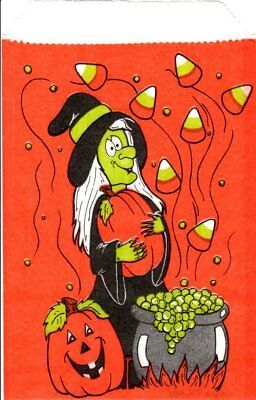 Halloween Trick or Treat Candy Bags Witch Cauldron Pumpkins - 80 Bags