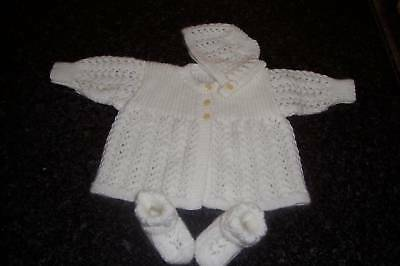 3 Piece Layette [ Hand Knitted ]
