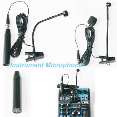 Clip-On Instrument Microphone for Shure with TA4F Connection XLR 3Pin for Mixer