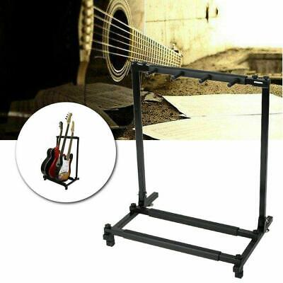 High Quality 5 Triple Folding Multiple Guitar Bass Holder Rack Stand