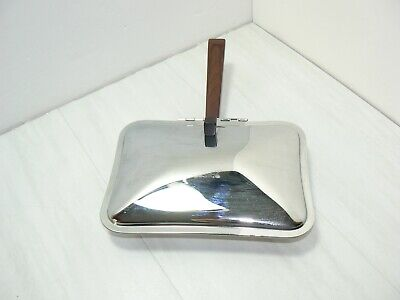 Vtg Irvin Ware Chrome Table Crumb Tray Silent Butler Catcher Sweeper Ash Tray