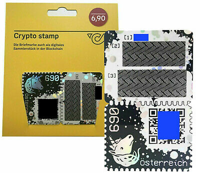 1X CRYPTO STAMP BLUE Limited Edition rare ETHEREUM blockchain brand new MINT