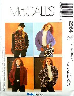 McCall/'s 2963 Misses/' Polargear Unlined Jackets 8 to 18    Sewing Pattern