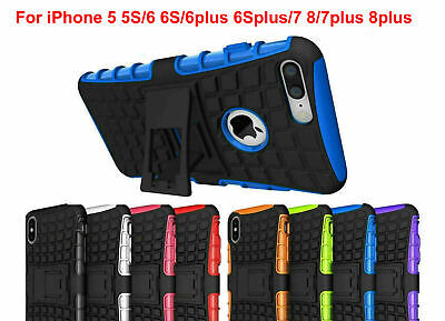 Case Cover For iPhone 5  5S 6 6S plus 7 8 7 plus  Shock Proof Armor Hybrid Stand