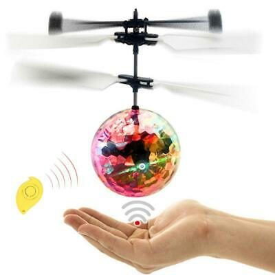 Flash Flying Ball Infrared Induction Colorful LED Disco RC Helicopter Toy New TX