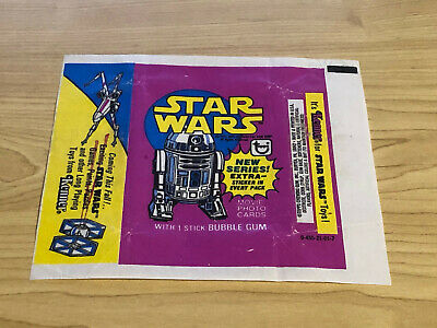 Star Wars Series 3 (Yellow) - 1x Wax Pack Card Wrapper - 1977 Topps - NO TEARS