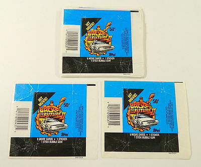 Back To the Future II - Wax Pack Card Wrappers - BULK LOT of 50 - Topps 1989