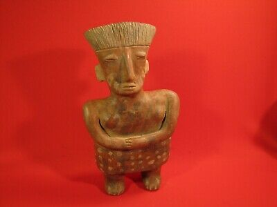 Pre Columbian Mexican South American Pottery Human Figure