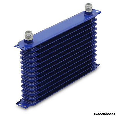13 ROW 50mm AN10 ALUMINIUM BLUE FAST ROAD TRACK DAY KIT CAR ENGINE OIL COOLER