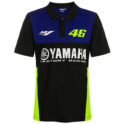 2019 Valentino Rossi VR46 Mens Polo Shirt Official Yamaha Factory Racing MotoGP