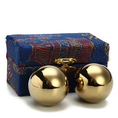 Chinese Health Exercise Stress BAODING Balls Relaxation Therapy 38mm with box !
