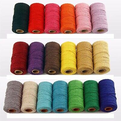100 meters/roll 2ply Bakers Twine String Cotton Cords Rope for Home Decor Diy