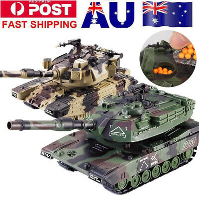 1:32 RC Battle Tank Crawler Remote Control Toys Car Can Launch Soft Bullets