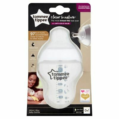 Tommee Tippee Closer to Nature Easivent Bottle - 260ml Bottles