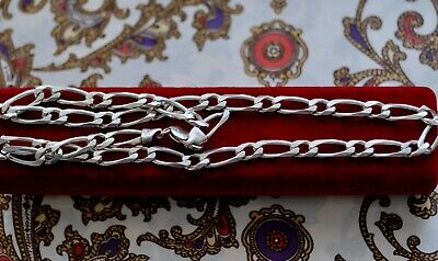 Vintage Jewellery Figaro Link Chain Necklace Antique Deco Jewelry