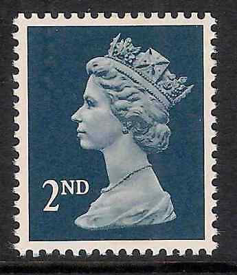 GB 1990- sg1513 2nd Deep Blue litho. centre band perf 15x14 MNH