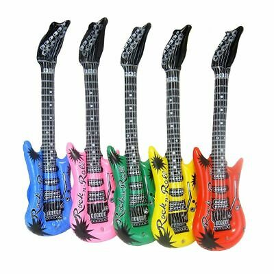 Inflatable Guitar Blow Up Multiple Colours Assorted Bulk - Party, Prop