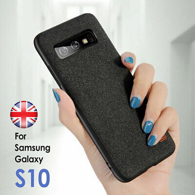 For Samsung Galalxy S10+ S9 N8 Luxury Shockproof Soft TPU Fabric Back Case Cover