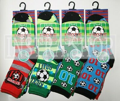 Boys Socks Football Character Cotton Childrens Kids Designer 6 Pairs