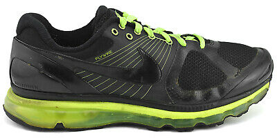 NIKE AIR MAX 2011 BlackVolt Green Running Shoe Men's Sz 10